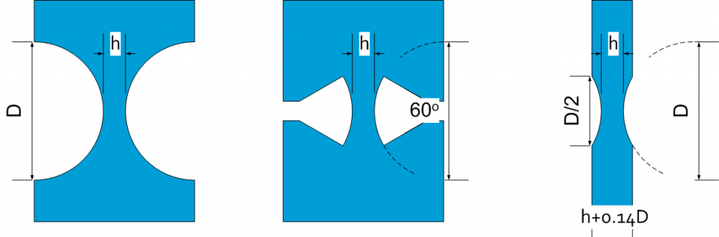 FLEXURE HINGE OR ELASTIC HINGE with equal h C_x and K_y 02