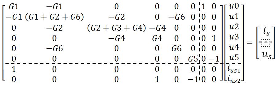 Electrical network analysis - Using nodal method -Latex code1