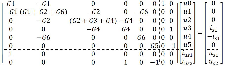 Electrical network analysis - Using nodal method -Latex code2